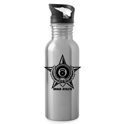 BLACK Urban Athlete Logo Water Bottle - Water Bottle