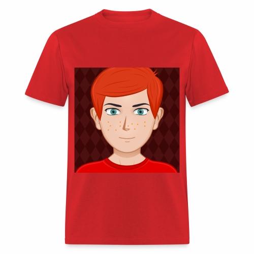 RED ANIMATED NIGNAZ T SHIRT FOR MEN - Men's T-Shirt