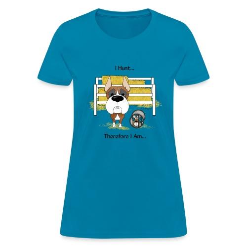 Big Nose Boxer Barn Hunt - Women's T-Shirt
