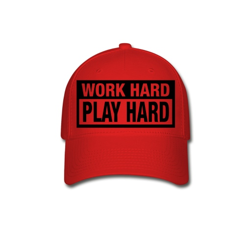 Work Hard Play Hard Hat - Baseball Cap