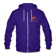 Zip Hoodies & Jackets ~ Unisex Fleece Zip Hoodie by American Apparel ~ MadGlory Logo Sweatshirt