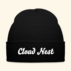 Cloud Nest Beanie - Knit Cap with Cuff Print