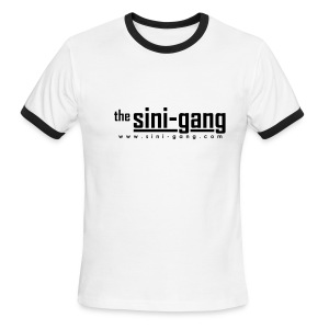 White and Black Ringer Tee - Men's Ringer T-Shirt