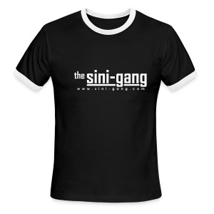 Black and White Ringer Tee - Men's Ringer T-Shirt