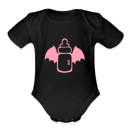 Vamp Bottle - Organic Short Sleeve Baby Bodysuit