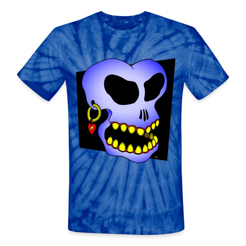 The blue skull hippie dude tie-dyed T-shirt - Unisex Tie Dye T-Shirt