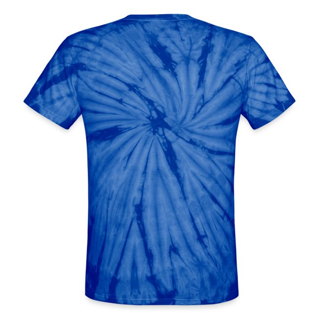 The blue skull hippie dude tie-dyed T-shirt