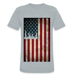 Chicago USA Flag - Unisex Tri-Blend T-Shirt
