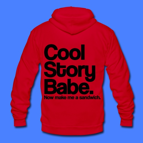 Cool Story Babe Zip Hoodies/Jackets - stayflyclothing.com - Unisex Fleece Zip Hoodie by American Apparel