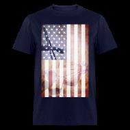T-Shirts ~ Men's T-Shirt ~ Detroit Spirit USA Flag