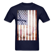 T-Shirts ~ Men's T-Shirt ~ Detroit Spirit USA Flag