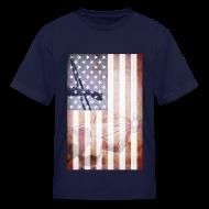 Kids' Shirts ~ Kids' T-Shirt ~ Detroit Spirit USA Flag