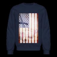 Long Sleeve Shirts ~ Crewneck Sweatshirt ~ Detroit Spirit USA Flag