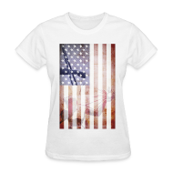 Women's T-Shirts ~ Women's T-Shirt ~ Detroit Spirit USA Flag
