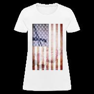 Women's T-Shirts ~ Women's T-Shirt ~ Detroit Spirit USA Flag