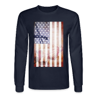 Long Sleeve Shirts ~ Men's Long Sleeve T-Shirt ~ Detroit Spirit USA Flag