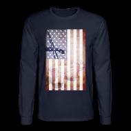 Long Sleeve Shirts ~ Men's Long Sleeve T-Shirt ~ Detroit Spirit USA Flag