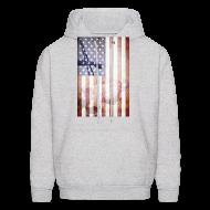 Hoodies ~ Men's Hoodie ~ Detroit Spirit USA Flag
