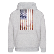 Hoodies ~ Men's Hoodie ~ Detroit Spirit USA Flag
