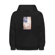 Sweatshirts ~ Kids' Hoodie ~ Detroit Spirit USA Flag