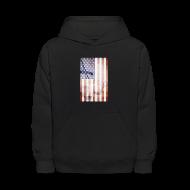 Sweatshirts ~ Kids' Hoodie ~ Detroit Spirit USA Flag