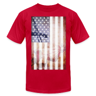 T-Shirts ~ Men's T-Shirt by American Apparel ~ Detroit Spirit USA Flag