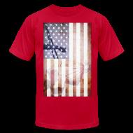 T-Shirts ~ Men's T-Shirt by American Apparel ~ Detroit Spirit USA Flag
