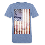 T-Shirts ~ Unisex Tri-Blend T-Shirt ~ Detroit Spirit USA Flag