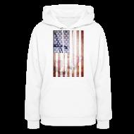 Hoodies ~ Women's Hoodie ~ Detroit Spirit USA Flag