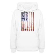 Hoodies ~ Women's Hoodie ~ Detroit Spirit USA Flag