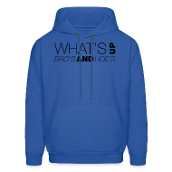 Hoodies ~ Men's Hoodie ~ What's Up Bro's and Hoes?