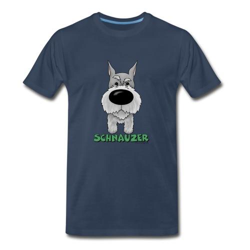 Big Nose Schnauzer - Men's Premium T-Shirt