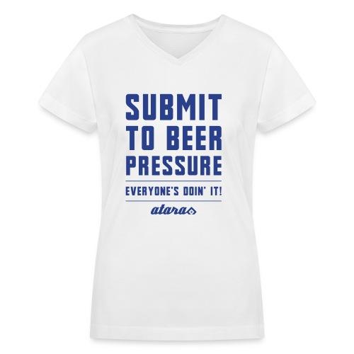 Beer Pressure - Women's V-Neck T-Shirt