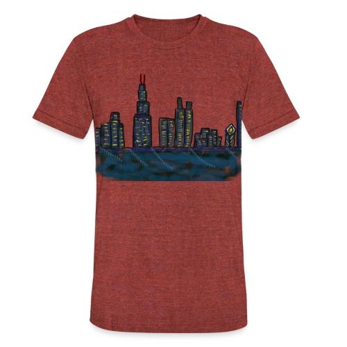 CITYMELTS CHICAGO SKYLINE  - Unisex Tri-Blend T-Shirt