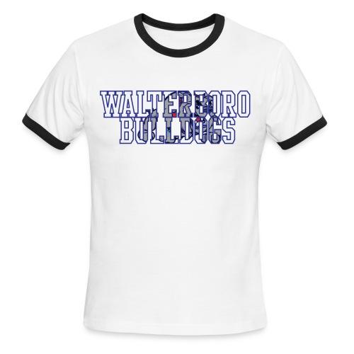 Walterboro Bulldogs LT Blue Ringer Tee - Men's Ringer T-Shirt