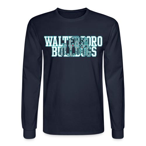 Walterboro Bulldogs DK Blue Mascot Long Sleeve Tee - Men's Long Sleeve T-Shirt