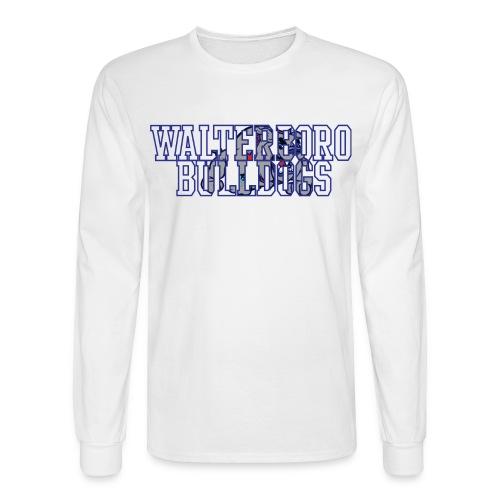 Walterboro Bulldogs White Mascot Long Sleeve Tee - Men's Long Sleeve T-Shirt