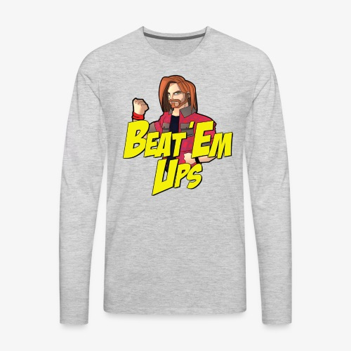 BeatEmUps Wood's Trademark Long Sleeve Shirt - Men's Premium Long Sleeve T-Shirt