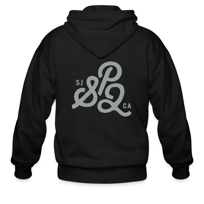 SP2 Hoodie - Black & White Text