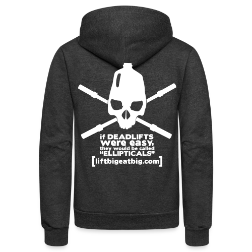 If deadlifts were easy - Unisex Fleece Zip Hoodie
