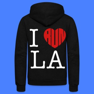 I Run LA Zip Hoodies/Jackets - stayflyclothing.com - Unisex Fleece Zip Hoodie by American Apparel