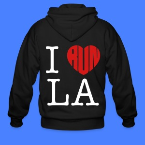 I Run LA Zip Hoodies/Jackets - stayflyclothing.com - Men's Zip Hoodie