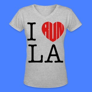 I Run LA Women's T-Shirts - stayflyclothing.com - Women's V-Neck T-Shirt