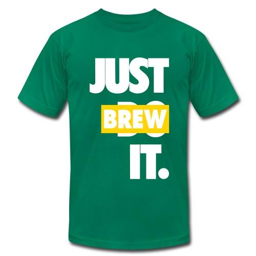 Men's JUST BREW IT GREEN T-SHIRT - Men's Fine Jersey T-Shirt