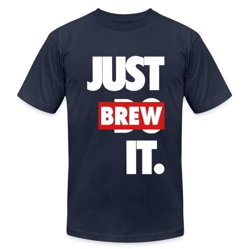 Men's JUST BREW IT NAVY BLUE T-SHIRT - Men's Fine Jersey T-Shirt