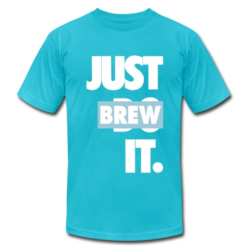Men's JUST BREW IT TURQUOISE T-SHIRT - Men's Fine Jersey T-Shirt