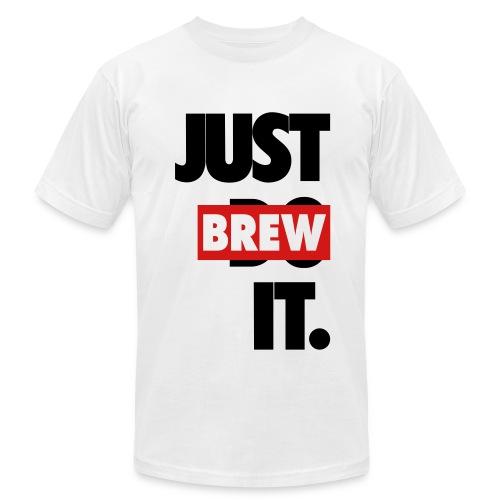 Men's JUST BREW IT WHITE T-SHIRT - Men's Fine Jersey T-Shirt