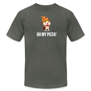 Oh My Pizza Unisex ANY COLOR - Men's T-Shirt by American Apparel
