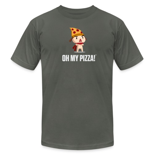 Oh My Pizza Unisex ANY COLOR - Men's Fine Jersey T-Shirt