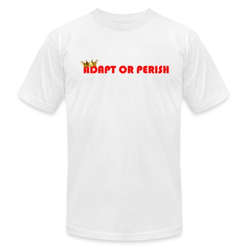 Adapt or Perish (White) - Men's Fine Jersey T-Shirt